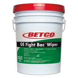 "Betco® Big Bucket GE Fight Bac Wipes, Fresh Scent, 7"" x 11"", Bucket Of 1,500 Wipes"