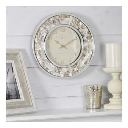 FirsTime & Co.® Pearl Mosaic Wall Clock, White/Silver