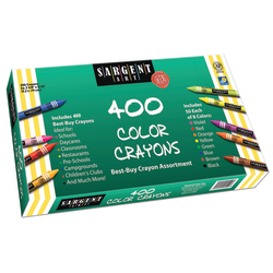 "Sargent Art Crayons, 3-1/2"" x 5/16"", Assorted Colors, Pack Of 400 Crayons"