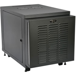 "Tripp Lite 12U Industrial Rack Floor Enclosure Server Cabinet Doors & Sides - 12U Rack Height x 19"" Rack Width x 32.50"" Rack Depth - Floor Standing - 4 Fan(s) - Black - 1000 lb Static/Stationary Weight Capacity"
