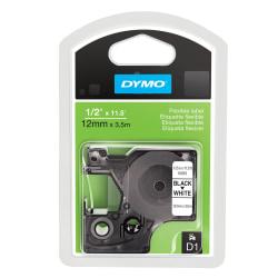 "DYMO® D1 16953 Fabric Black-On-White Tape, 0.5"" x 12'"
