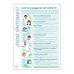 "ComplyRight™ Coronavirus (COVID-19) Poster, Got Symptoms? Stop The Spread, Spanish, 10"" x 14"""