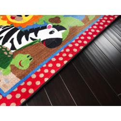 Flagship Carpets Cutie Jungle Rug, Rectangle, 3' x 5', Multicolor