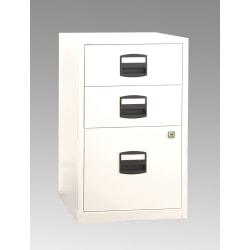 "Bisley 14-13/16""D Vertical 3-Drawer Under-Desk Storage Cabinet, Metal, White"