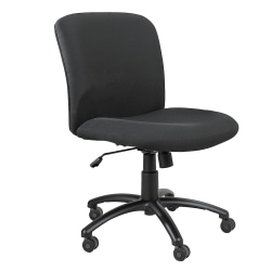 Safco® Uber Big & Tall Mid-Back Chair With Optional Armrests, Black