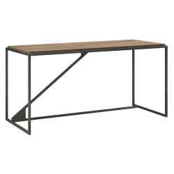 "Bush Furniture Refinery Industrial Desk, 62""W, Rustic Gray, Standard Delivery"
