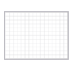 "Ghent Grid 1"" x 1"" Magnetic Dry-Erase Board, Steel, 24"" x 36"", Satin Aluminum Frame"