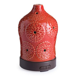 """Airome Ultrasonic Essential Oil Diffusers, 6-1/4"""" x 3-3/4"""", Lotus, Case Of 6 Diffusers"""