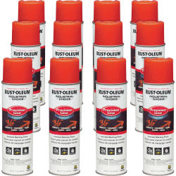 Industrial Choice Color Precision Line Marking Paint - 17 fl oz - 12 / Carton - Alert Orange