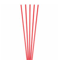 "Goldmax Slim Plastic Sip 'n Stir Sticks, 5 1/4"", Red, Pack Of 10,000"