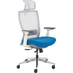 True Commercial Pescara High-Back Executive Chair, Blue/Off-White