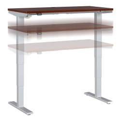"""Move 40 Series by Bush Business Furniture Height-Adjustable Standing Desk, 48"""" x 24"""", Hansen Cherry/Cool Gray Metallic, Standard Delivery"""