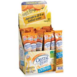 Crystal Light® On-The-Go Mix Sticks, Classic Orange, 0.16 Oz, Box Of 30
