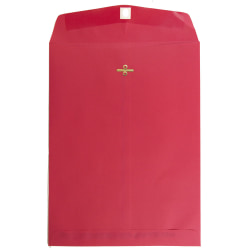 """JAM Paper® Open-End Catalog Envelopes With Clasp Closure, 9"""" x 12"""", Red, Pack Of 100 Envelopes"""