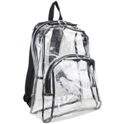 Eastsport Clear PVC Backpack, Black