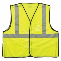 Ergodyne GloWear Safety Vest, ID Holder, Type-R Class 2, XX-Large/3X Lime, 8216BA