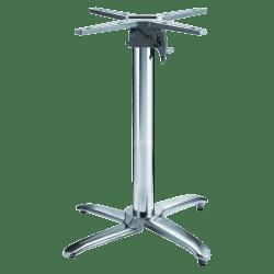 "Lorell® Foldable Round Hospitality Table Base, 28""H, Chrome"