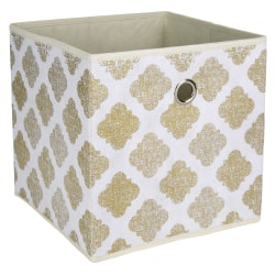 Realspace® Storage Cube, Medium Size, Metallic Gold Print