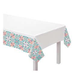 "Amscan Fabric Table Cover, 60"" x 104"", Boho Vibes"