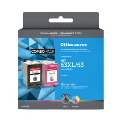 Office Depot® Brand OD63XLK63C Remanufactured Ink Cartridge Replacement For HP 63XL/63 Black/Tricolor, Pack Of 2