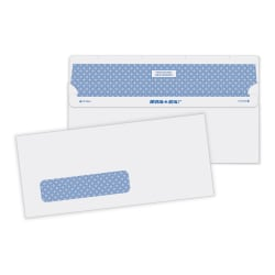 """Quality Park® Reveal-N-Seal Business Security Window Envelopes, #10, 4 1/8"""" x 9 1/2"""", White, Box Of 500"""