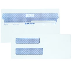 "Quality Park® Reveal-N-Seal® Business Security Double-Window Envelopes, #8 5/8 (3 5/8"" x 8 5/8""), White, Box Of 500"