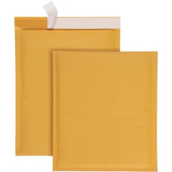 """Quality Park Redi-Strip Bubble Mailers with Labels - Bubble - 9"""" Width x 12"""" Length - Peel & Seal - 10 / Box - Kraft"""