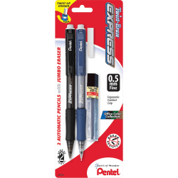 Pentel Twist-Erase Express Automatic Pencils - #2 Lead - 0.5 mm Lead Diameter - Refillable - Assorted Barrel - 2 / Pack
