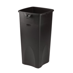 "Rubbermaid® Square Waste Containers, 23 Gallons, 31""H x 15 1/2""W x 16 1/2""D, Black"