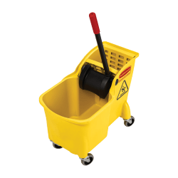 Rubbermaid® Bucket And Wringer Combination, 31 Quarts, Yellow