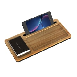 Ivomax 1906 Wireless Charger Desktop Organizer, Wood