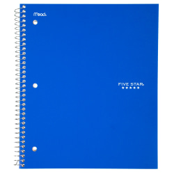"""Five Star® Notebook, 8 1/2"""" x 11"""", 1 Subject, College Ruled, 100 Sheets, Assorted Colors (No Color Choice)"""