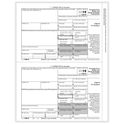 """ComplyRight™ 1099-B Tax Forms, Laser Cut, Recipient Copy B, 8-1/2"""" x 11"""", Pack Of 50 Forms"""