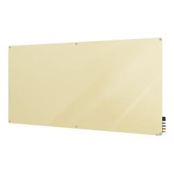 "Ghent Harmony Magnetic Glass Unframed Dry-Erase Whiteboard, 48"" x 60"", Beige"