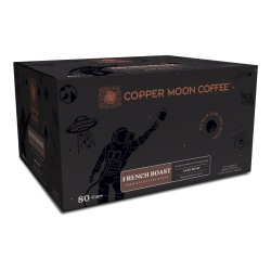 Copper Moon® World Coffees Single Pods, French Roast, 0.32 Oz, Carton Of 80