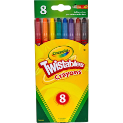 Crayola® Twistables® Crayons With Reusable Pouch, Assorted Colors, Pack Of 8