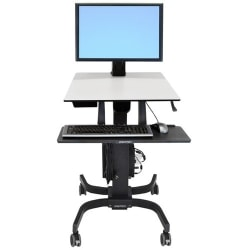Ergotron WorkFit-C Single HD Sit Stand Computer Stand, Gray/Black