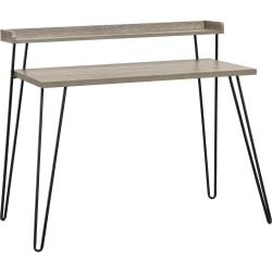 Ameriwood™ Home Haven Retro Desk With Riser, Distressed Gray Oak