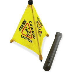 """Impact Products 31"""" Pop Up Safety Cone - 1 Each - 18"""" Width - Cone Shape - Plastic - Yellow, Black"""