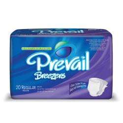 """Breezers® By Prevail® Adult Briefs, Regular, 40""""-49"""", Lavender, Box Of 20"""