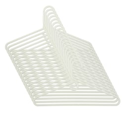 Honey-Can-Do Heavy-Duty Plastic Tubular Hangers, White, Pack Of 18