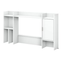 "kathy ireland® Home by Bush Furniture Madison Avenue 60""W Desk Hutch, Pure White, Standard Delivery"
