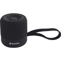 Verbatim Portable Bluetooth Speaker System - Black - 100 Hz to 20 kHz - TrueWireless Stereo - Battery Rechargeable