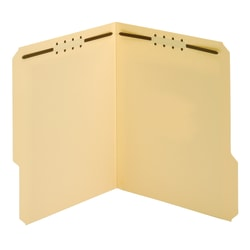 "Office Depot® Brand File Folders With Fasteners, 3/4"" Expansion, 8 1/2"" x 11"", Letter, Manila, Box of 25"