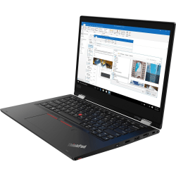 "Lenovo ThinkPad L13 Yoga 20R5002HUS 13.3"" Touchscreen 2 in 1 Notebook  - 1920 x 1080 - Intel Core i3 i3-10110U Dual-core 2.10 GHz - 4 GB RAM - 128 GB SSD - Glossy Black - Windows 10 Pro - Intel UHD Graphics"