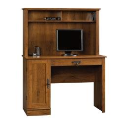 Sauder® Harvest Mill Computer Desk With Hutch, Abbey Oak