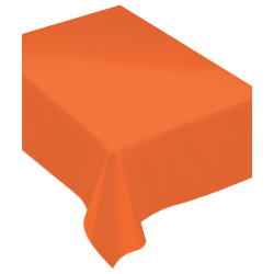 """Amscan Rectangular Fabric Table Covers, 60"""" x 80"""", Orange Peel, Pack Of 2 Table Covers"""