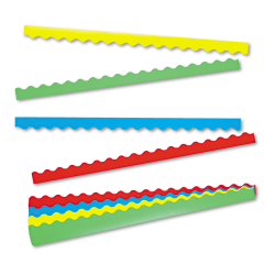"""TREND Terrific Trimmers Board Trim, 2 1/4"""" x 3 1/4', Solid Colors, Set Of 48"""