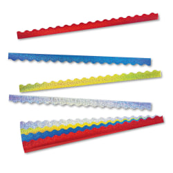 "TREND Sparkle Terrific Trimmers, 2 1/4"" x 39"", Assorted Colors, Pack Of 40"