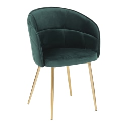 LumiSource Lindsey Chair, Green/Gold